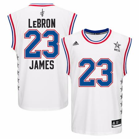pretty nice c1060 8a2a7 LeBron James All Star NBA Adidas Men's White Official Replica Jersey