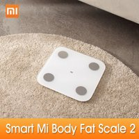 New Xiaomi Mi Body Fat Scale Body Composition Scale 2 Smart Fat Weight Health Scale BT 5.0 Balance Test 13 Body Date BMI Weight Scale LED Digital Display Mi Fit APP Data Analysis