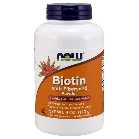 Biotin Powder - Biotin with Fibersol-2 Now Foods 4 oz Powder