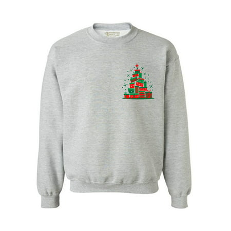 Awkward Styles Lit Christmas Tree Sweatshirt Ugly Christmas Sweater for Women Xmas Patch Sweatshirt Funny Christmas Gifts for Men Holiday Outfit Christmas Presents Family Christmas Outfit Lit Xmas](Christmas Family Outfit)