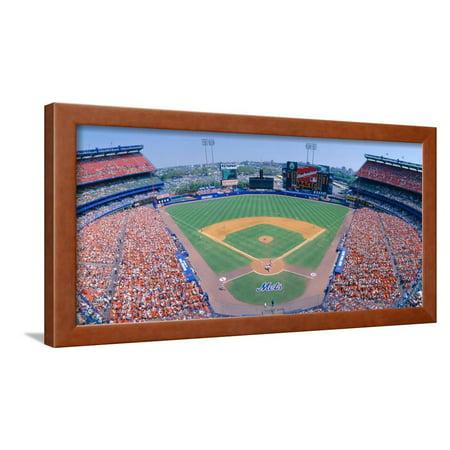 Shea Stadium, Ny Mets V. Sf Giants, New York Framed Print Wall Art By Panoramic (Ny Moving Wall Art)