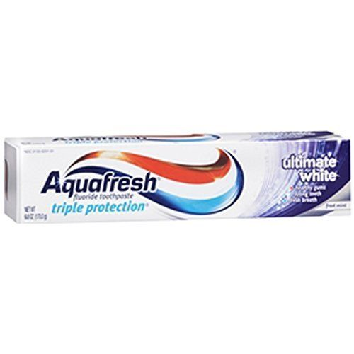 2 Pack - Aquafresh Ultimate Whitening Toothpaste 6oz Each
