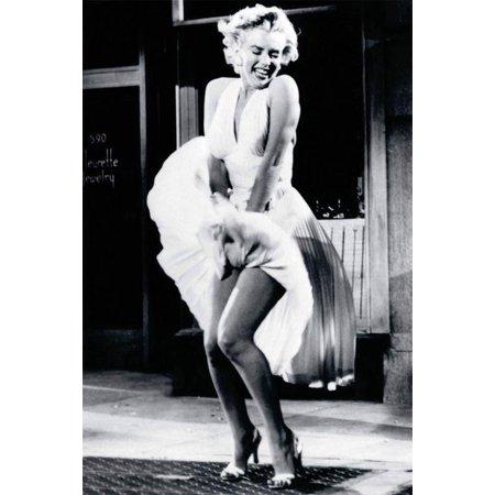 Marilyn Monroe White Dress Celebrity Poster by Sam Shaw, 8