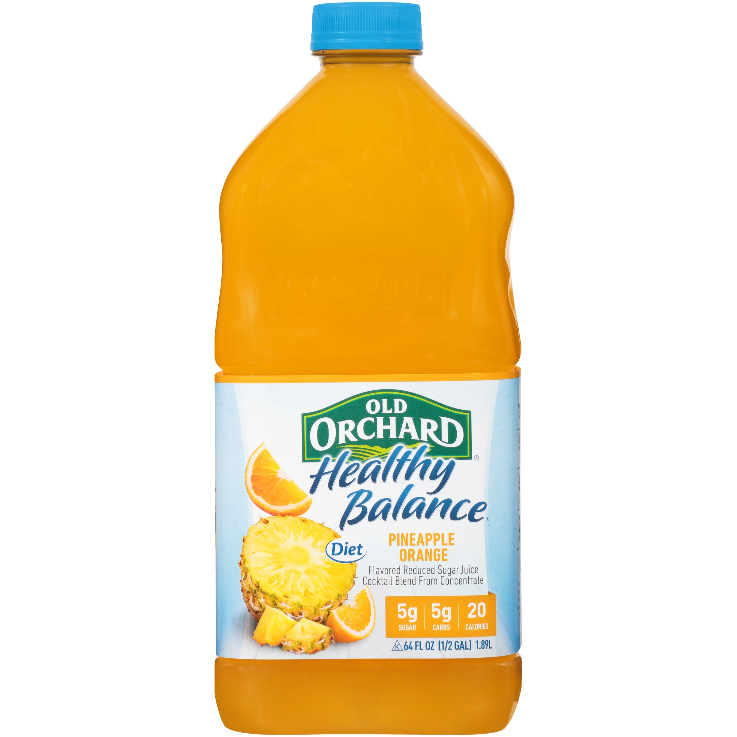 Old Orchard® Healthy Balance® Diet Pineapple Orange Juice Cocktail 64 fl   oz  Bottle