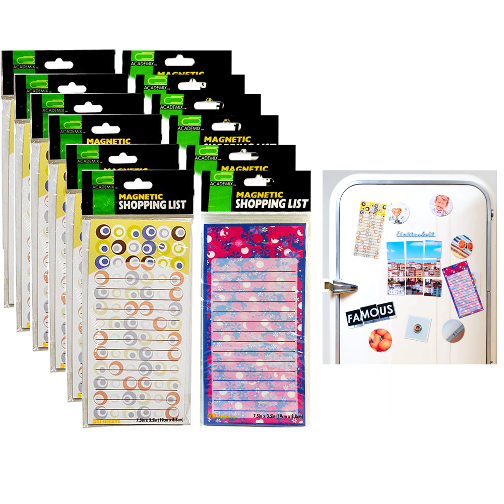 12 X Magnetic Note Memo Pads Grocery Shopping To Do List Notepad Stick To Fridge
