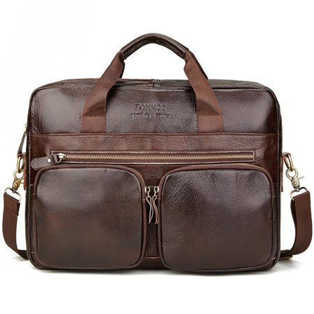 Leather Men's Briefcase Business Computer Bag Messenger Bags Handbags Business York Briefcase