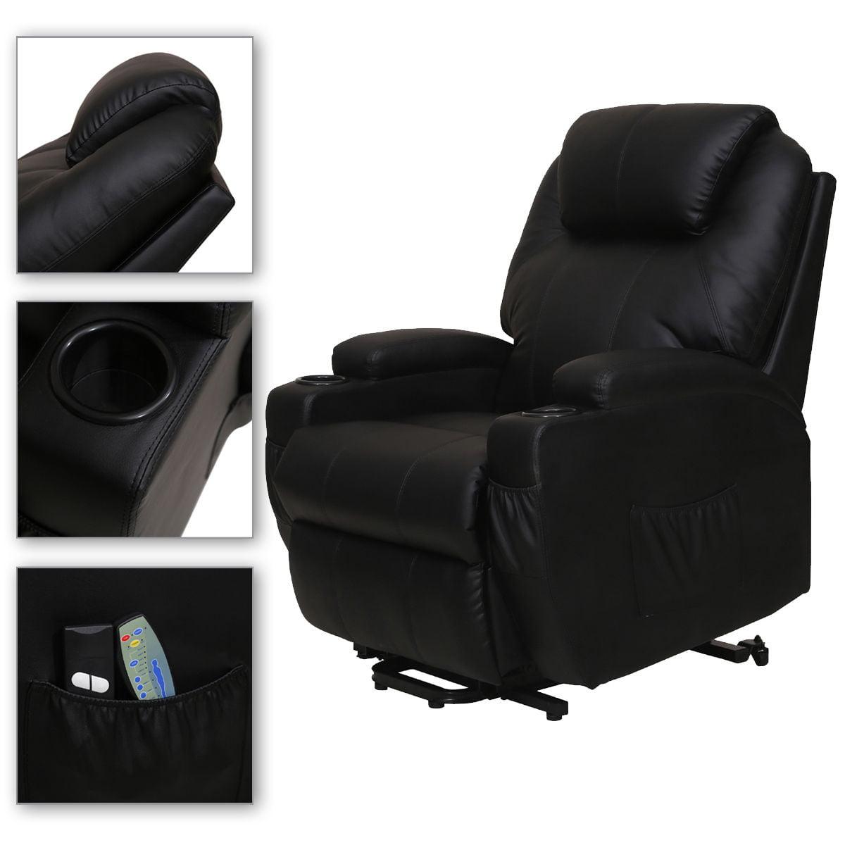 Black Man Massage Chair Recliner Electric  Body Ergonomic...