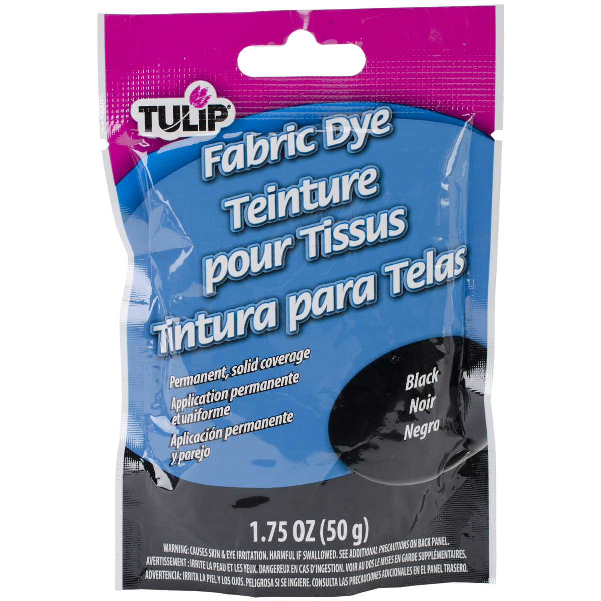 Tulip Permanent Fabric Dye 1.76oz-Hot Black