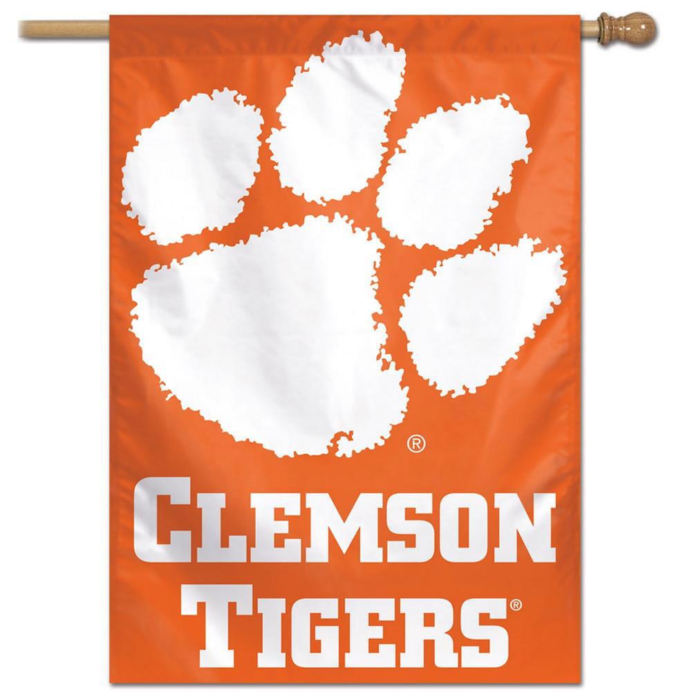 "Clemson University Tigers Flag 28"" x 40"" Vertical House Banner"