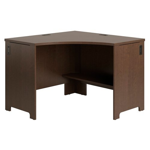 Bush Envoy 42 in. Corner Computer Desk - Mocha Cherry