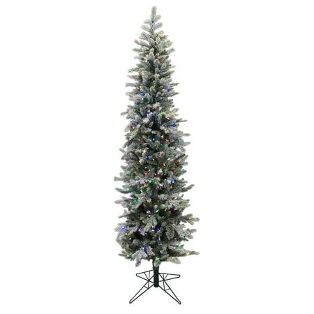 Led Tannenbaum.Vickerman Artificial Christmas Tree 6 X 24 Frosted Tannenbaum 250 Led Multi Color Lights