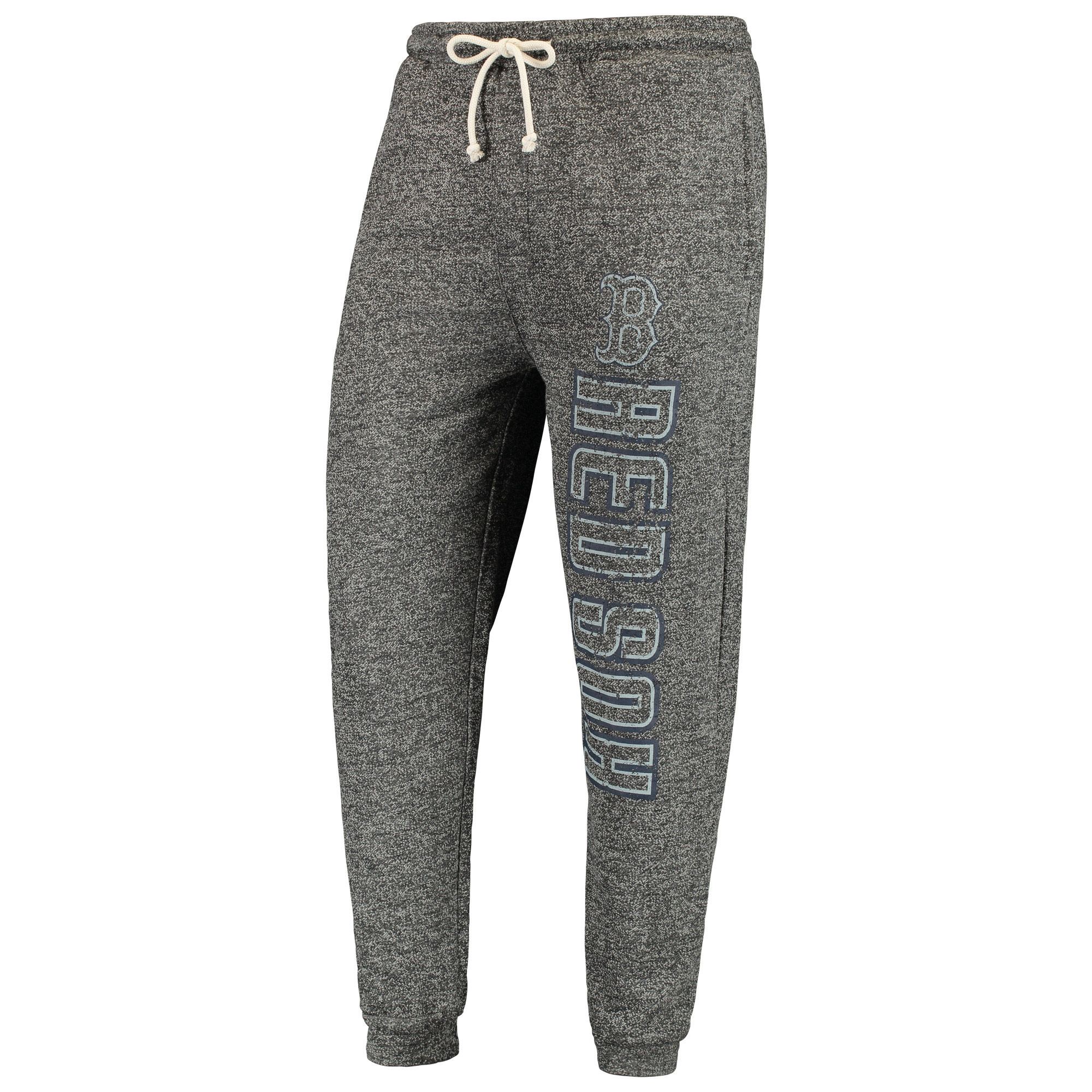 Boston Red Sox Concepts Sport Pinpoint French Terry Cuffed Pant - Charcoal