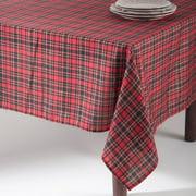 Saro Plaid Tablecloth