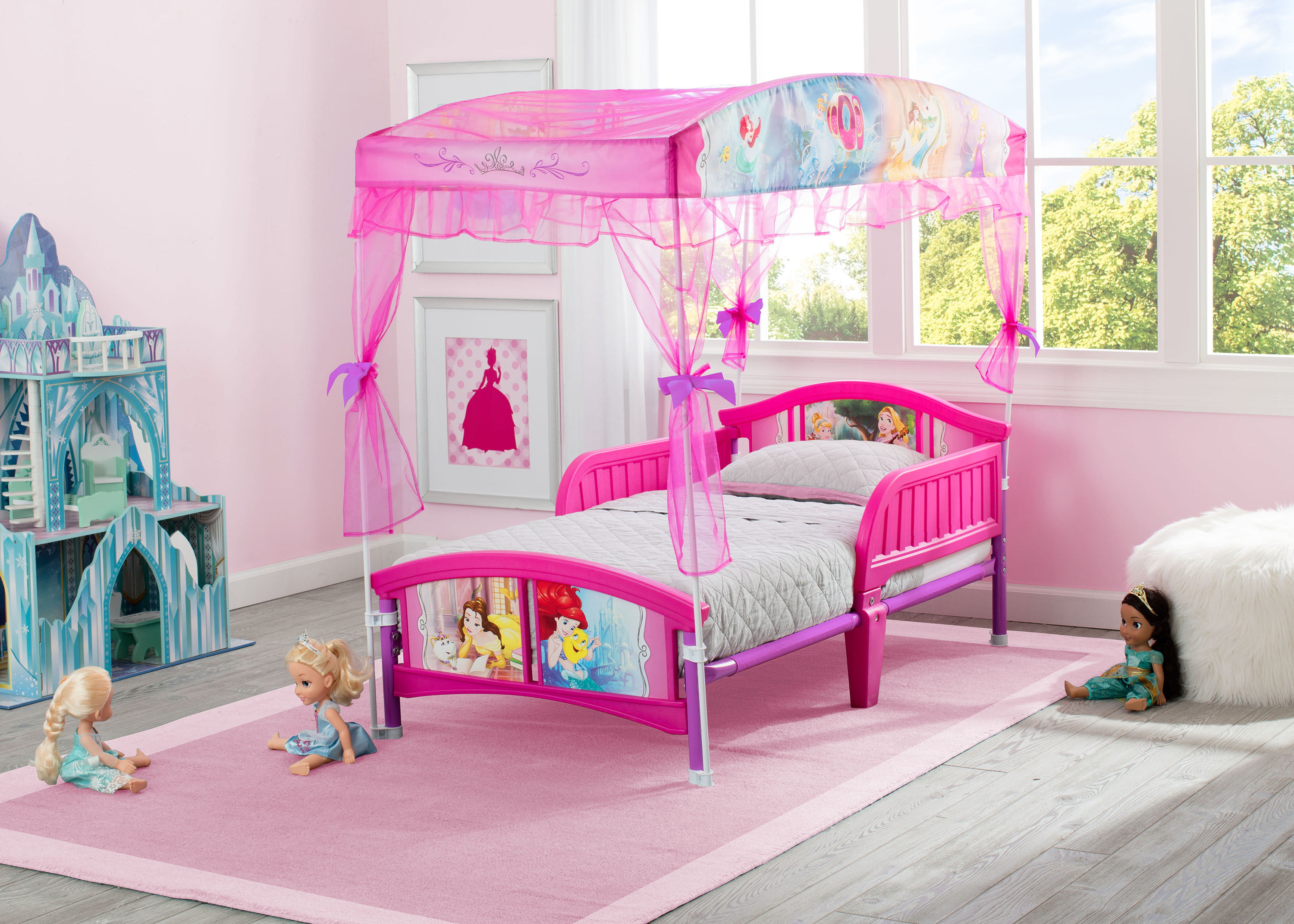 Disney Princess Plastic Toddler Bed With Canopy By Delta Children