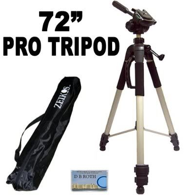 "Professional PRO 72"" Super Strong Tripod With Deluxe Soft..."