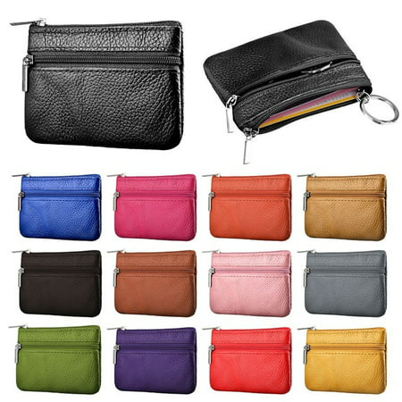 94e9b863eb9 1 PC Women Girls PU Leather Coin purse Women Small wallet zipper Pouch Mini  Coin Bag Cards Holder Keychian Cute ladies Cluth Handbag