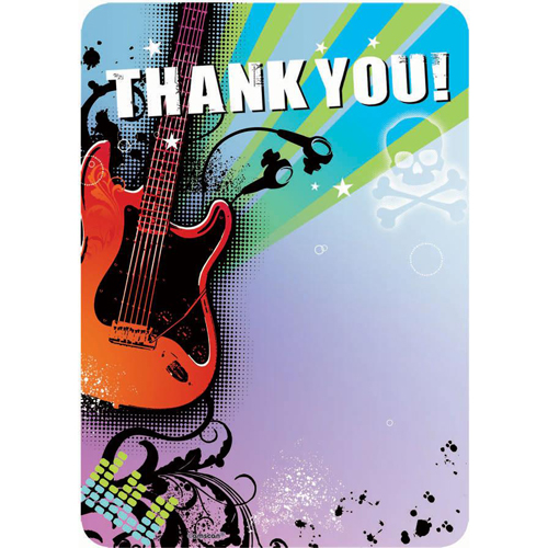 Rock Star Thank You Notes w/ Envelopes (20ct)