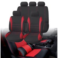 ffb700408f4 Product Image 9-Piece Car Front Seat Cover & Headrest Cover & Split Rear  Bench Protect Cover