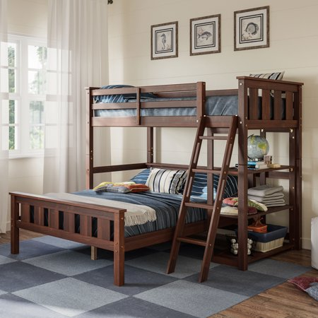 Better Homes and Gardens Kane Twin Over Full Bunk Bed, Multiple Finishes