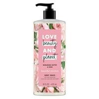 Love Beauty And Planet Moisturizing Body Wash Murumuru Butter & Rose 16 oz
