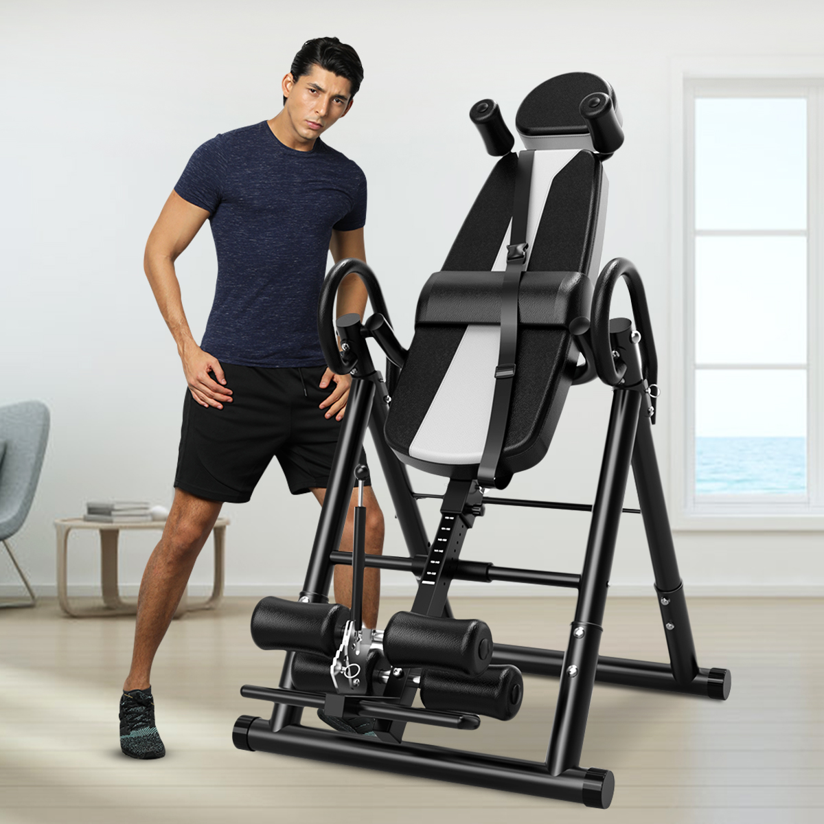 Inversion Table Chiropractic Back Stretcher Heavy Duty Fitness Reflexology US