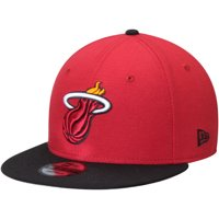 Miami Heat New Era 2-Tone 9FIFTY Adjustable Snapback Hat - Red/Black - OSFA