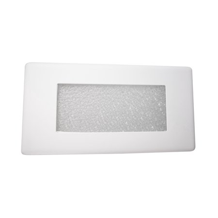 NICOR Lighting 10-Inch Textured Frosted Glass Recessed Step Lighting Faceplate Cover for 15803 LED Step Light (15813COVER)