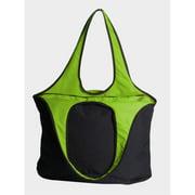 Peerless VEST001-Black-Lime Village Zipper Tote Bag, Black And Lime