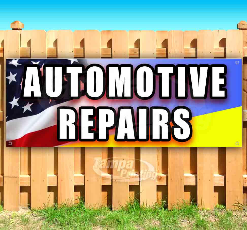 Many Sizes Available Service /& Repair Extra Large 13 oz Heavy Duty Vinyl Banner Sign with Metal Grommets Flag, Store New Advertising