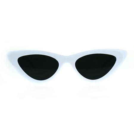 Womens Gothic Retro Cat Eye Plastic 20s Sunglasses White
