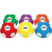 School Smart Soccer Balls, Size 4, Set of 6