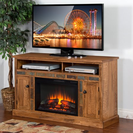 Designer Fireplace - Sunny Designs Sedona 54 in. Electric Fireplace Media Console
