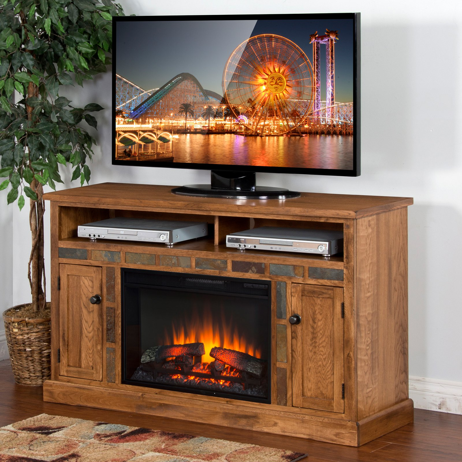 Sunny Designs Sedona 54 in. Electric Fireplace Media Console