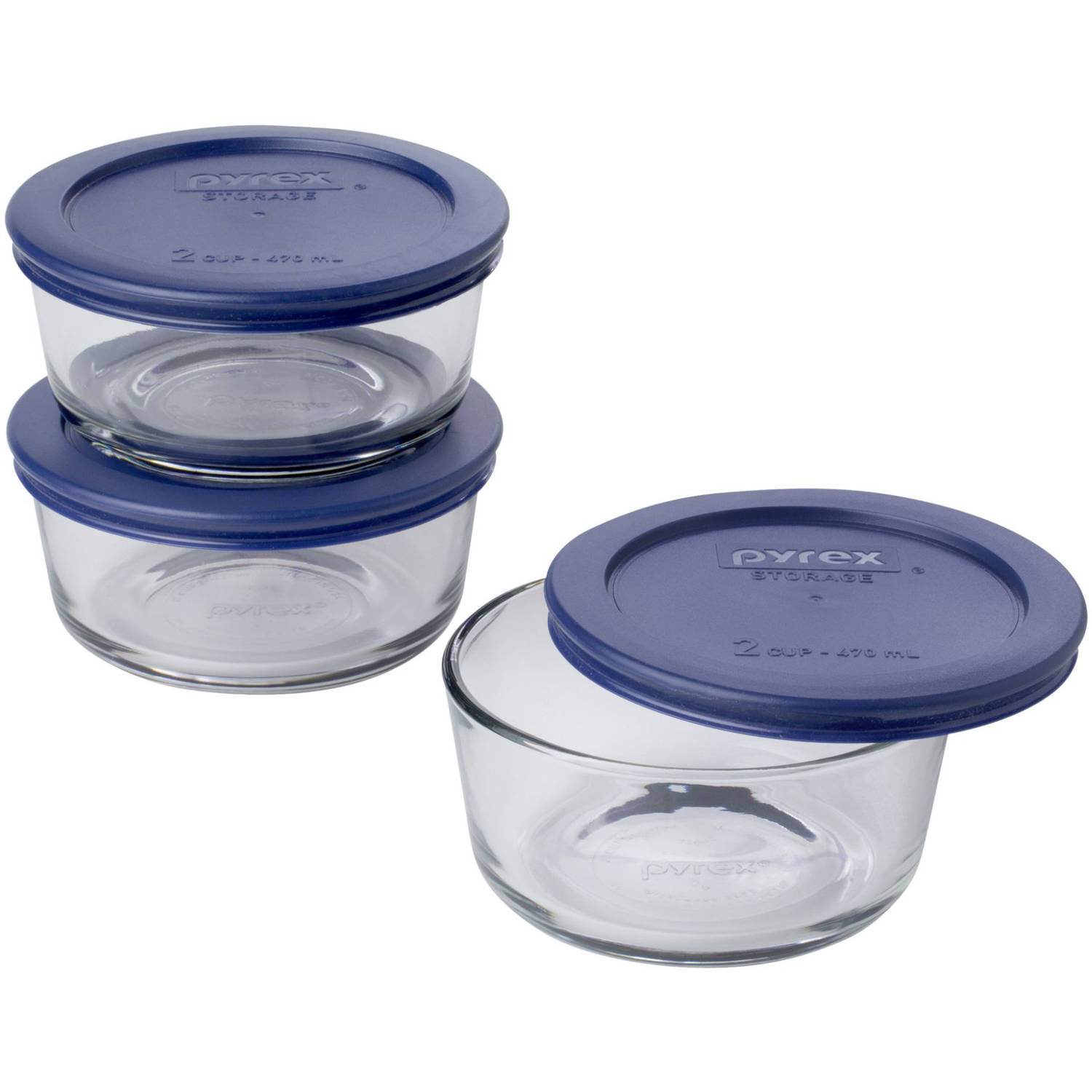 Pyrex Simply Store 6-Piece 2-Cup Value Pack