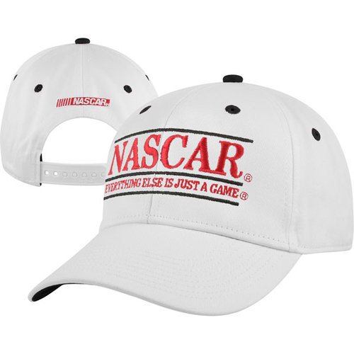 NASCAR The Game Classic White Bar Adjustable Hat