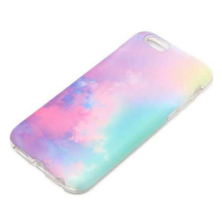 Étui dégradé pastel uCOLOR pour iPhone 6S, iPhone 6 étui de protection nuage abstrait pour iPhone 6 6S étui rigide double couche
