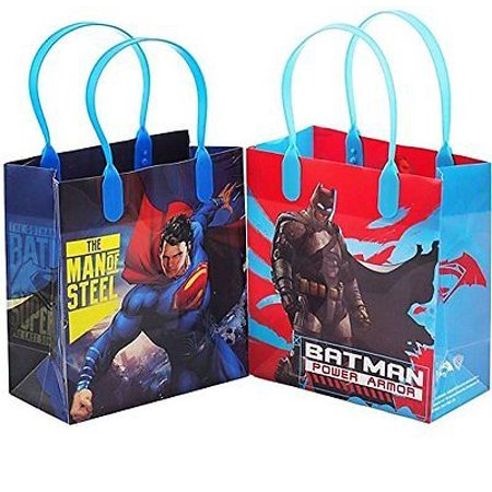 12PCS DC Batman vs Superman Authentic Goodie Party Favor Gift Birthday Loot Bags](Batman Goodie Bags)