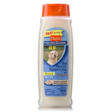 Hartz Rid Flea & Tick Oatmeal Shampoo for Dogs, 18
