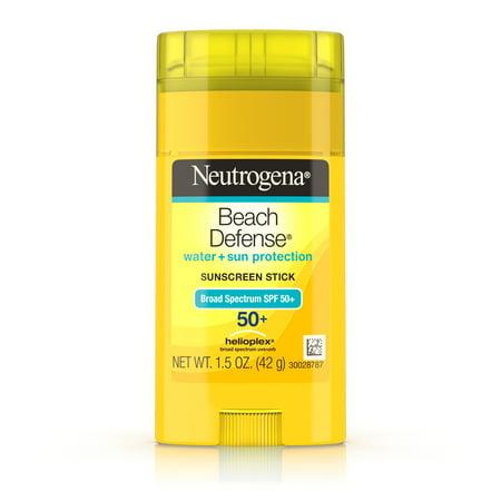 Neutrogena Beach Defense Oil-Free Sunscreen Stick SPF 50+, 1.5 oz (Rash Guard Spf 50)