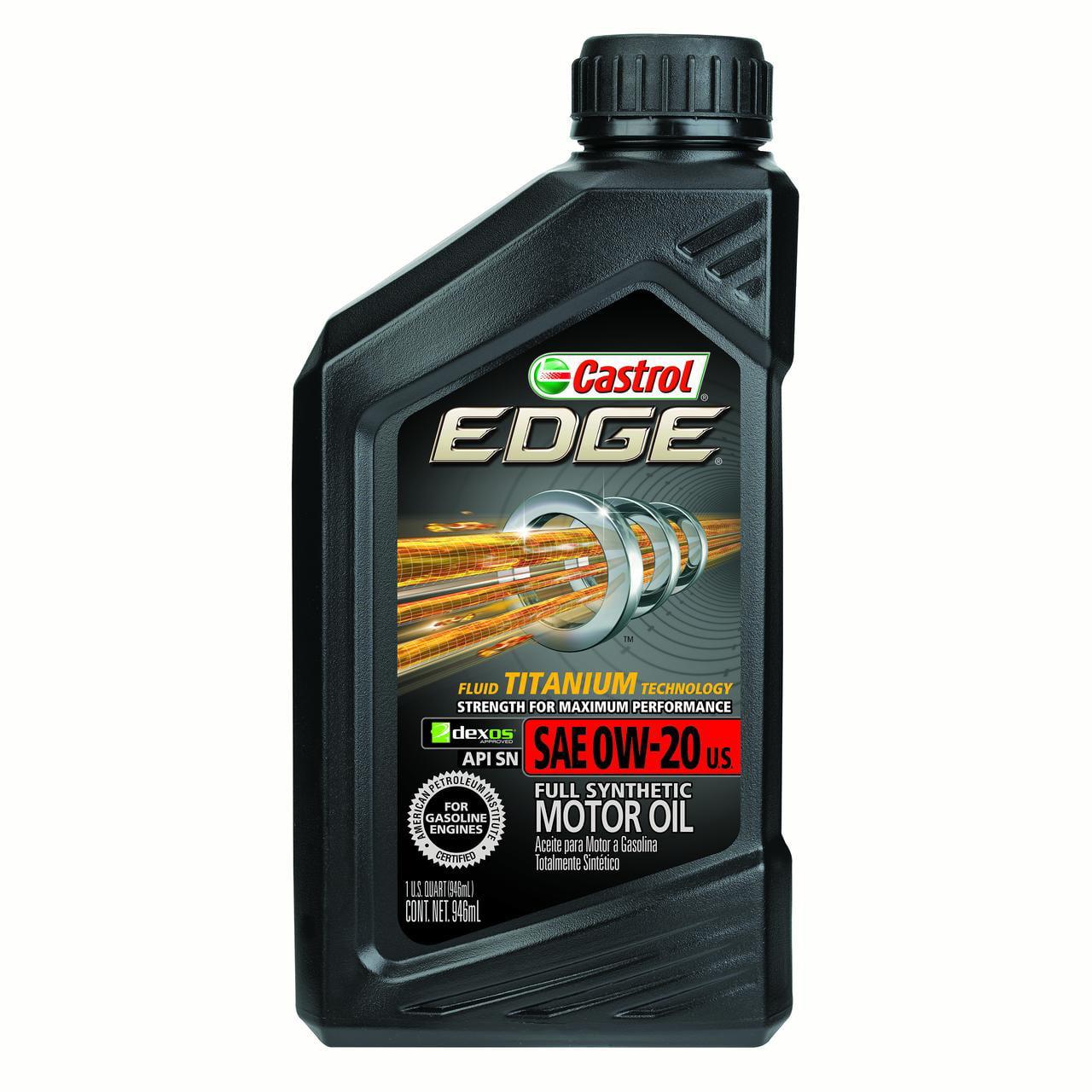 Castrol EDGE 0W-20 Full Synthetic Motor Oil, 1 QT by Castrol
