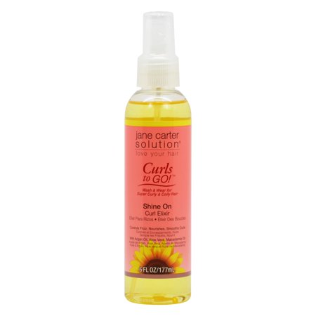 Jane Carter  Curls To Go Shine On 6 Ounce Curl Elixir