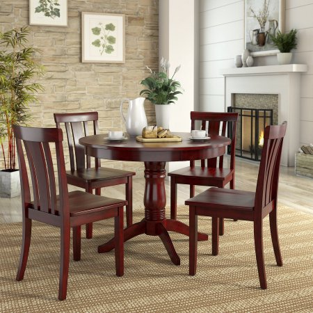 Weston Home Lexington 5 Piece Round Dining Table Set