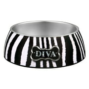 Loving Pets Milano Diva Zebra Bowl Large, 1.0 CT