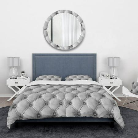 DESIGN ART Designart 'Luxury classic leather pattern' Vintage Bedding Set - Duvet Cover & Shams