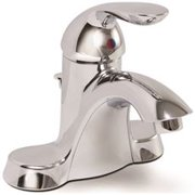 Waterfront Bathroom Faucet With 50/50 Pop-Up Chrome Finish, 4 In.