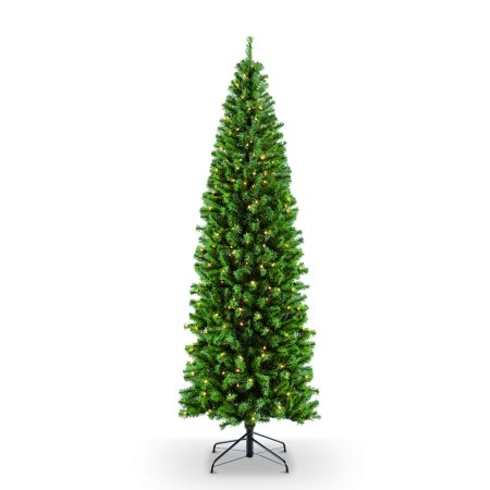 Puleo International 7.5 ft. Pre-Lit Northern Fir Artificial Christmas Tree with 350 Clear UL listed
