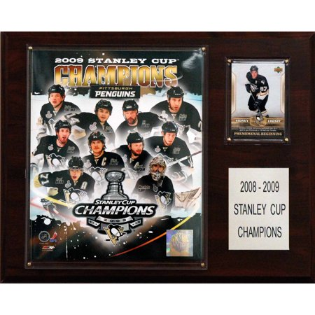 C Collectables Nhl 12X15 Pittsburgh Penguins 2009 Stanley Cup Champions Plaque