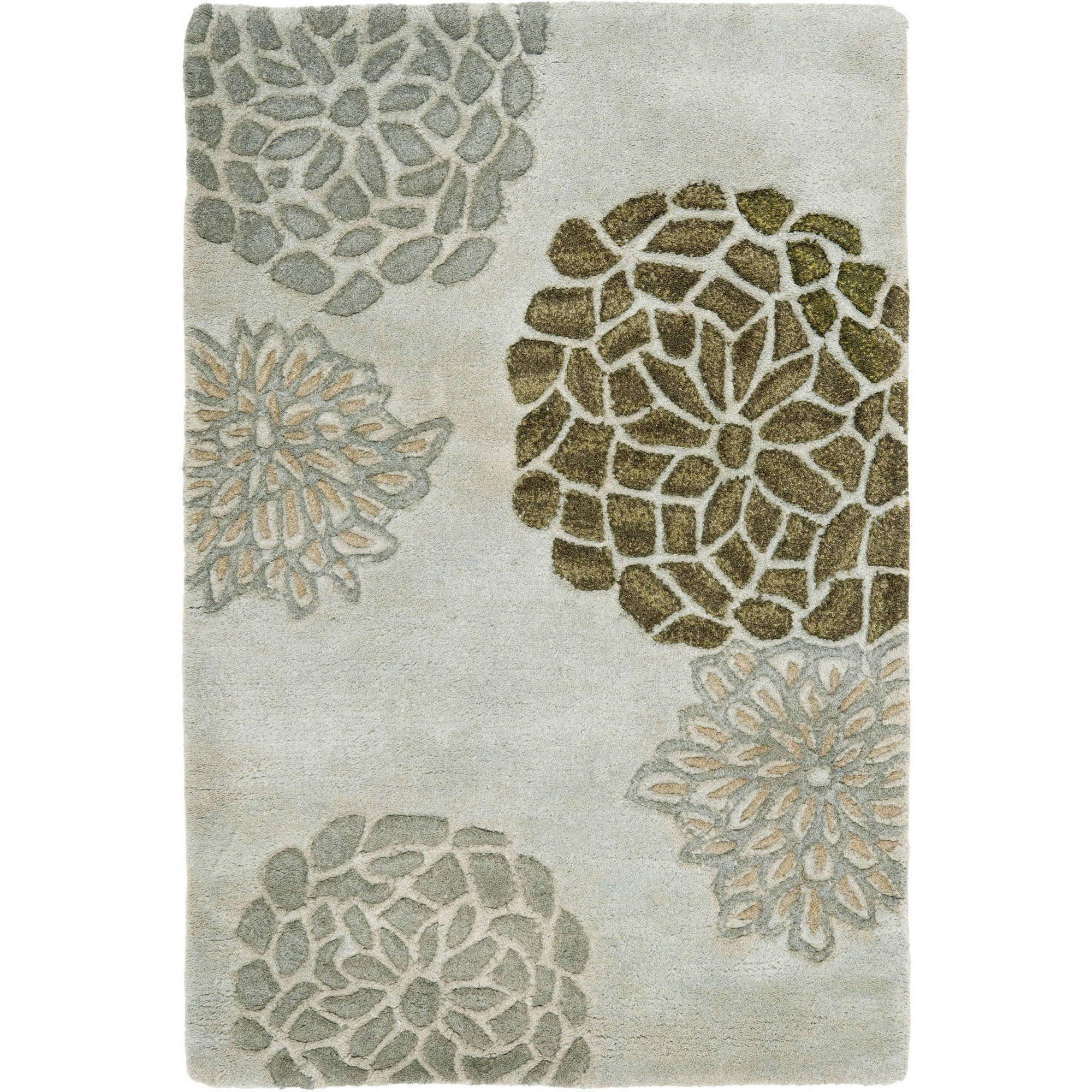 Safavieh Soho Brisbane Wool  Area Rug, Light Grey