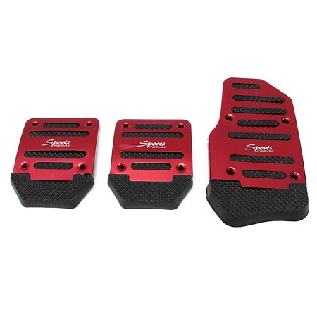 Meigar 3 Piece Non Slip Pedal Kit Gas Clutch Brake Racing Manual Car Truck Pedals Cover Pads for Manual Transmission