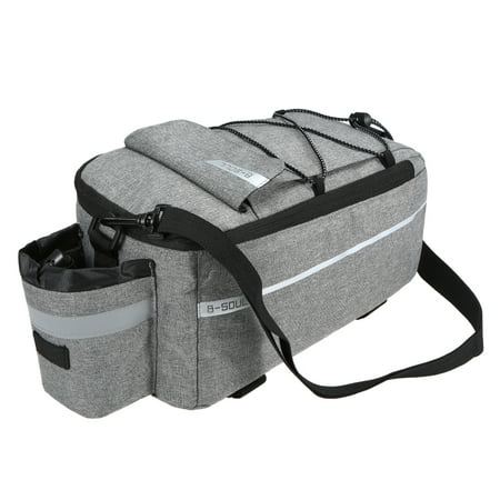 Insulated Trunk Cooler Bag Cycling Bicycle Rear Rack Storage Luggage Bag Reflective MTB Bike Pannier Bag Shoulder Bag